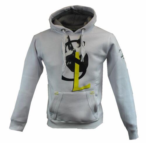 GANGSTER UNIT,Herren,Kapuzen Pullover,Sweatshirt,Hoodie,NEU,Logo,Men,Weiß,White