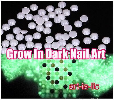 500pc Luminous Resin Rhinestones Gems Glow In Dark Nail Art Tips Deco Craft