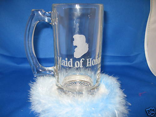 6 personalized glass beer mugs wedding  bachelor gift