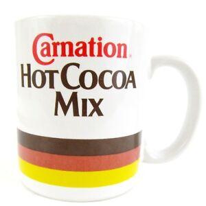 Vintage-Carnation-Hot-Cocoa-Mix-Publicite-Mug-Ceramique-Tasse-B1