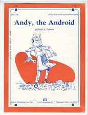 TECHNOLOGY ROBOT Sheet Music 1982 Andy The Android