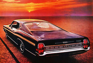 1968 Ford Galaxie 500 Xl Fastback Promotional Advertising Poster