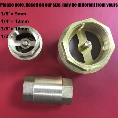 UK BSP BSPP Non Return Valve Spring Check Various Sizes 1//4-2/'/' Adapters