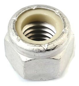 "#10-24 Hex Nuts 1//8/"" High x 3//8/"" Across Standard Grade Zinc Steel 12 Lot"