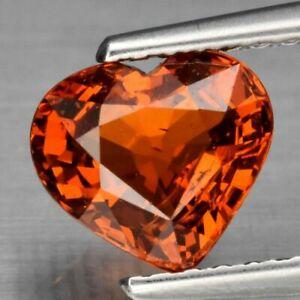1.42 Carats Natural Orange Spessartite GARNET Heart Cut for Jewelry Set Namibia