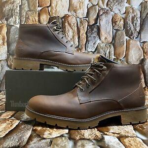 tanto techo posponer  Timberland para hombre Elmhurst botín chukka MD marrón grano lleno estilo  A26HN tamaño 12M | eBay