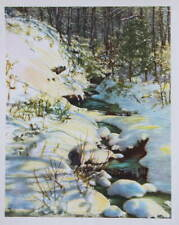 vintage 1940s print snowy creek by Hohenberger