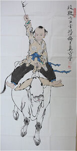 RARE-Chinese-100-Handed-Painting-By-Fan-Zeng-AW7