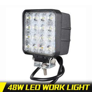 Square-48W-4in-LED-Work-Light-Bar-Off-Road-Flood-Fog-Lamp-Truck-ATV-SUV-4WD-SUV