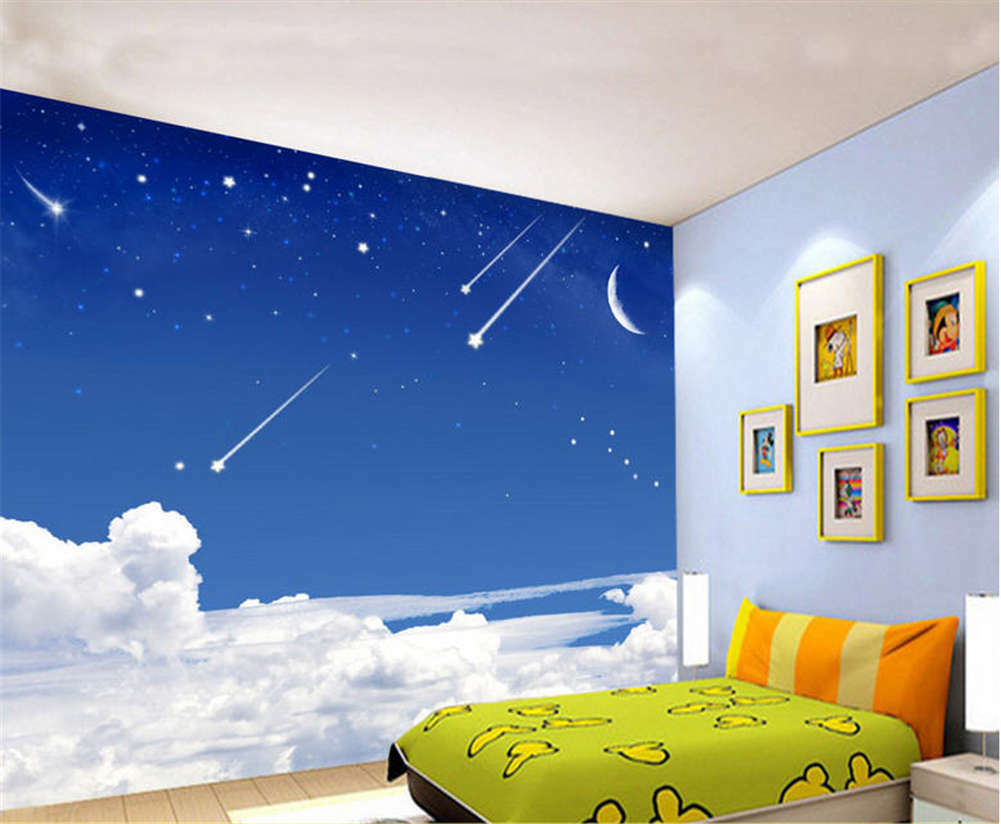 Gross Shining Meteor 3D Ceiling Mural Full Wall Photo Wallpaper Print Home Decor