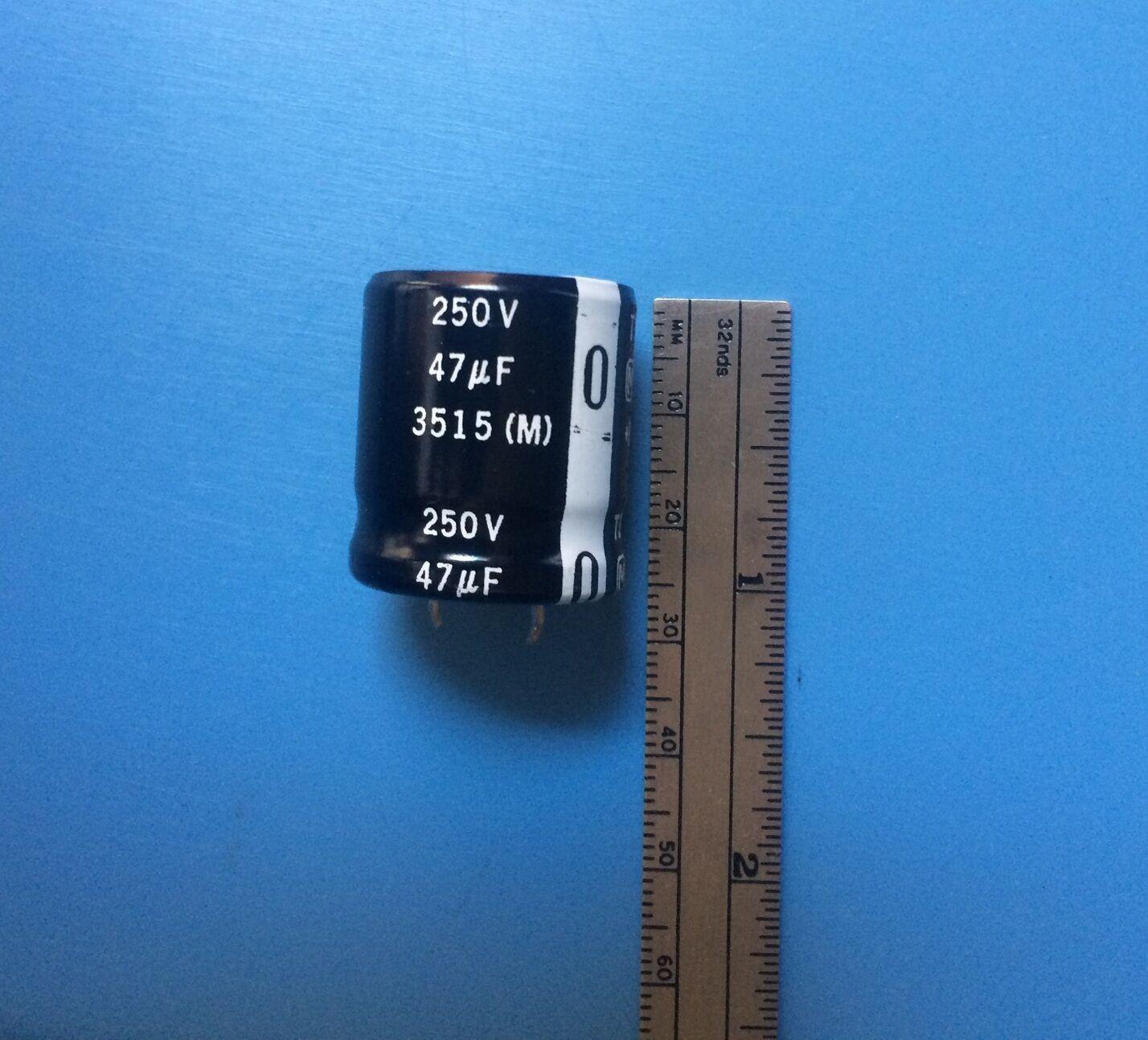 ECE-C2EG470D9 PANASONIC CAPACITOR 47UF 250V 20X25mm SNAP IN TSNH 105/'