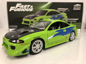 Fast-And-Furious-Brians-1995-Mitsubishi-Eclipse-1-18-Echelle-Greenlight-19039