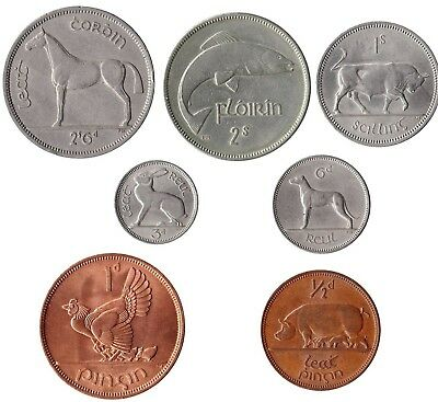 Bag 12 X 1960s Irish Coins Half Penny To Half Crown NICE CIRCULATED Ireland