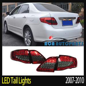 LED-Tail-Light-Red-Smoked-For-Toyota-Corolla-2008-2009-ZRE152-Sedan-Rear-Lamp