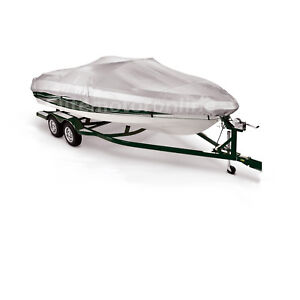 New 12/'-14/' V-hull Bworider Runabout Trailerable Jet Boat Storage Cover Grey