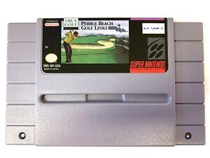 Pebble Beach Golf Links - Super Nintendo SNES Game TESTED + WORKING!