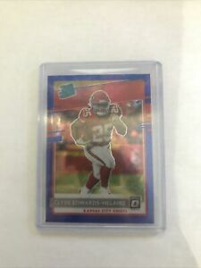 2020 Donruss Optic CLYDE EDWARDS-HELAIRE RATED ROOKIE BLUE SCOPE RC CHIEFS