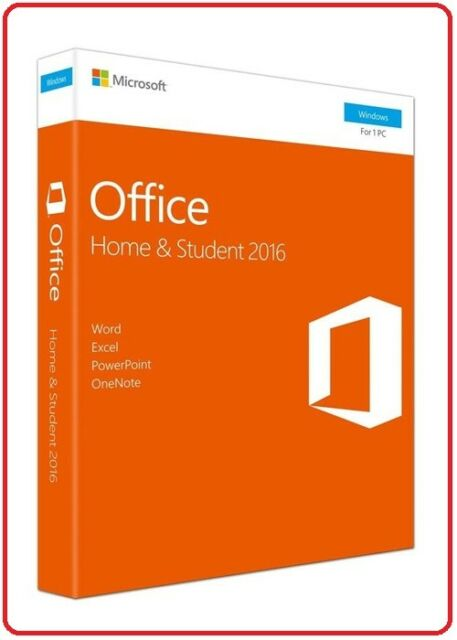 Retail Factory Sealed Microsoft Office 2016 Home and Student FOR 1 PC - Windows