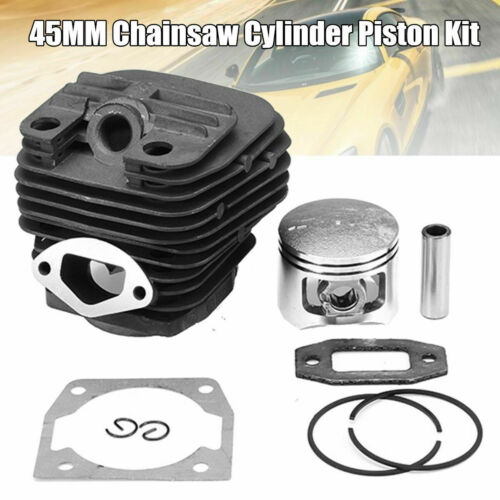 45MM Chainsaw Cylinder Piston Kit Part For 52CC 5200 Chinese Gasoline Chain Saw