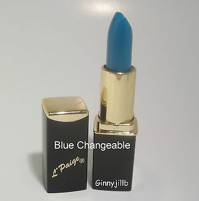 L'Paige Lipstick Blue Changes to Shades of Deep Pink Longlasting Moisturizing