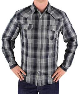NEW-NWT-LEVI-039-S-MEN-039-S-LONG-SLEEVE-BUTTON-UP-CASUAL-DRESS-SHIRT-GRAY-3LYLW0042