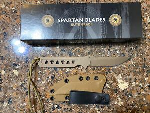 Spartan Blades Knife Formido Coyote Handle Coyote Kydex Sheath
