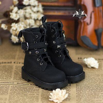 1/4 BJD Shoes MSD Dollfie DREAM Black Army Punk Boots SOOM AOD DOD LUTS EID MID