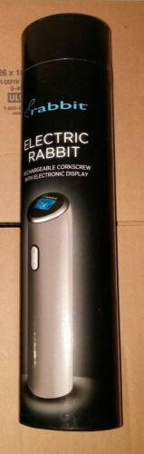 Silver /& Red Rabbit Rechargeable Electric Corkscrew with Electronic Display