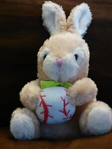 Dan-Dee-Collector-039-s-Choice-Baseball-Softball-Plush-Stuffed-Animal-Bunny-Rabbit