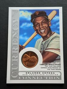 2003-Topps-Gallery-Orlando-Cepeda-Currency-1958-Wheat-Penny-CC-OC-HoF-Giants