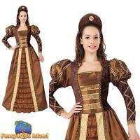 MEDIEVAL TUDOR QUEEN GAME OF THRONES UK 10-14 ladies womens fancy dress costume