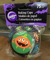 Wilton Halloween goulies Cupcake Liners 75 Count - Lot 8 Pks 600 Liners Cute