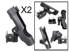"Seachoice Side Mount Fishing Rod Holder PVC Tube Poly Brackets 8-3//4/"" L x 1-3//4/"""