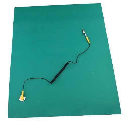 Green Desktop Anti Static ESD Grounding Mat 500x606mm + Cord for PC Repair