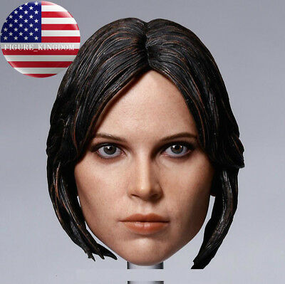1//6 Felicity Jones Head Jyn Erso For Star Wars Hot Toys PHICEN KUMIK Figure USA