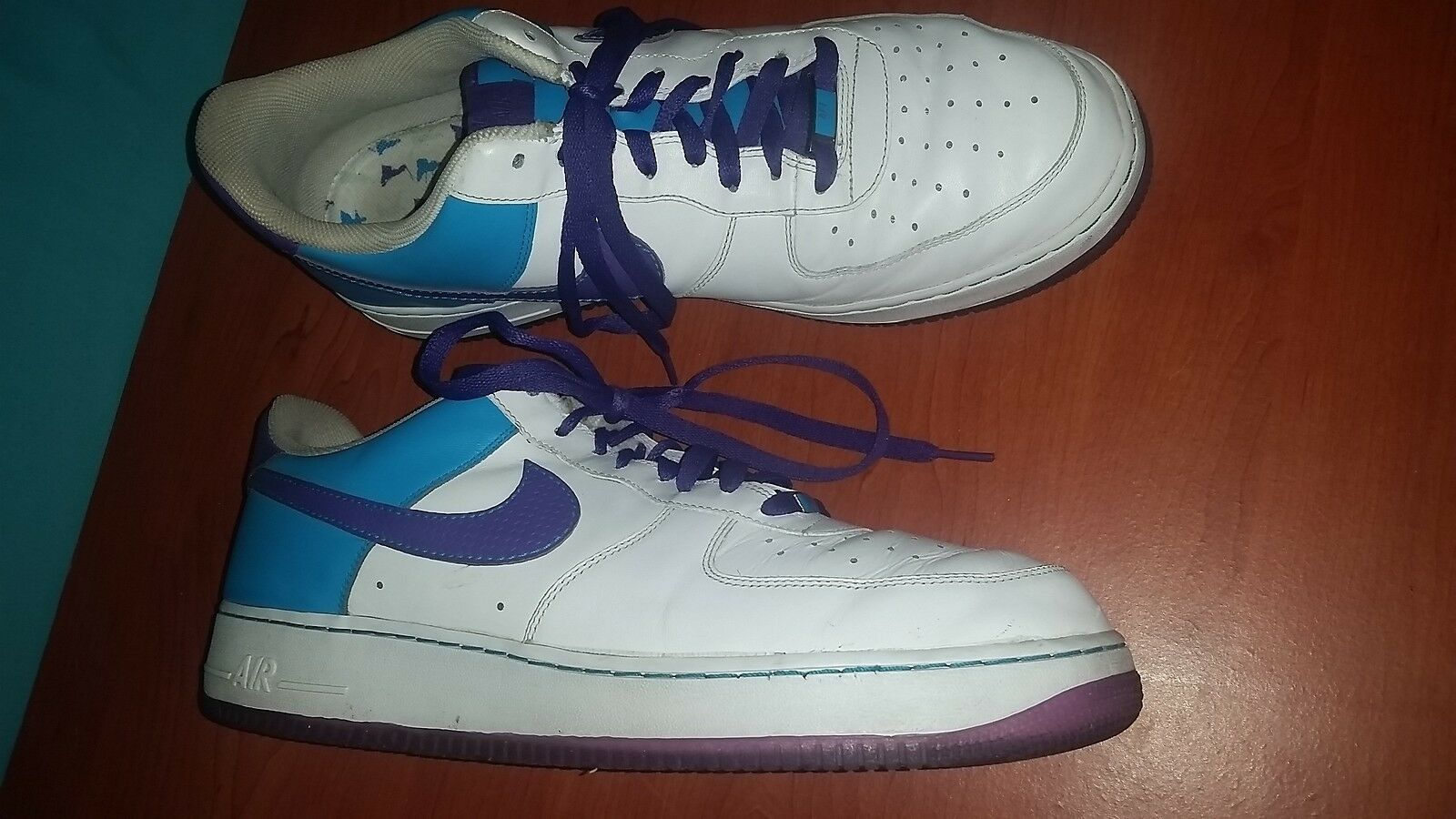 Nike Air Force 1 315122 Grape/White/Blue Men's Shoes '07 size 14