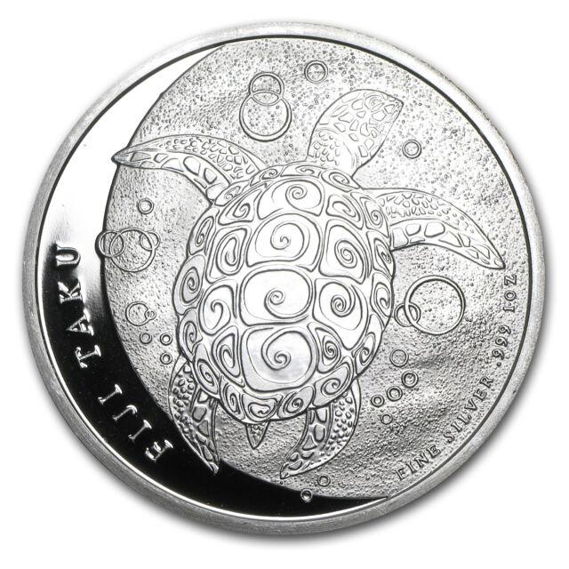 2011 1 oz Silver New Zealand Mint $2 Fiji Taku Coin