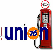 "12""  UNION 76 GASOLINE DECAL OIL CAN / GAS PUMP / LUBSTER"