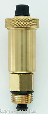 """TEAMS BRASS AUTOMATIC AUTO BOTTLE AIR VENT 3/8"""" OR 1/2"""" BSP AIRVENT VALVE"""