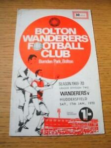 17011970 Bolton Wanderers v Huddersfield Town  Creased amp Folded No obvious - Birmingham, United Kingdom - 17011970 Bolton Wanderers v Huddersfield Town  Creased amp Folded No obvious - Birmingham, United Kingdom