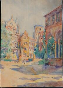 Johannes-Paul-Ufer-Heidelberg-II-Aquarell-um-1920