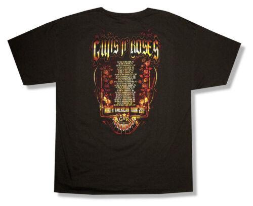 Guns N Roses Wings Skull Image FL-UT 2011 Tour Black T Shirt New Official GnR