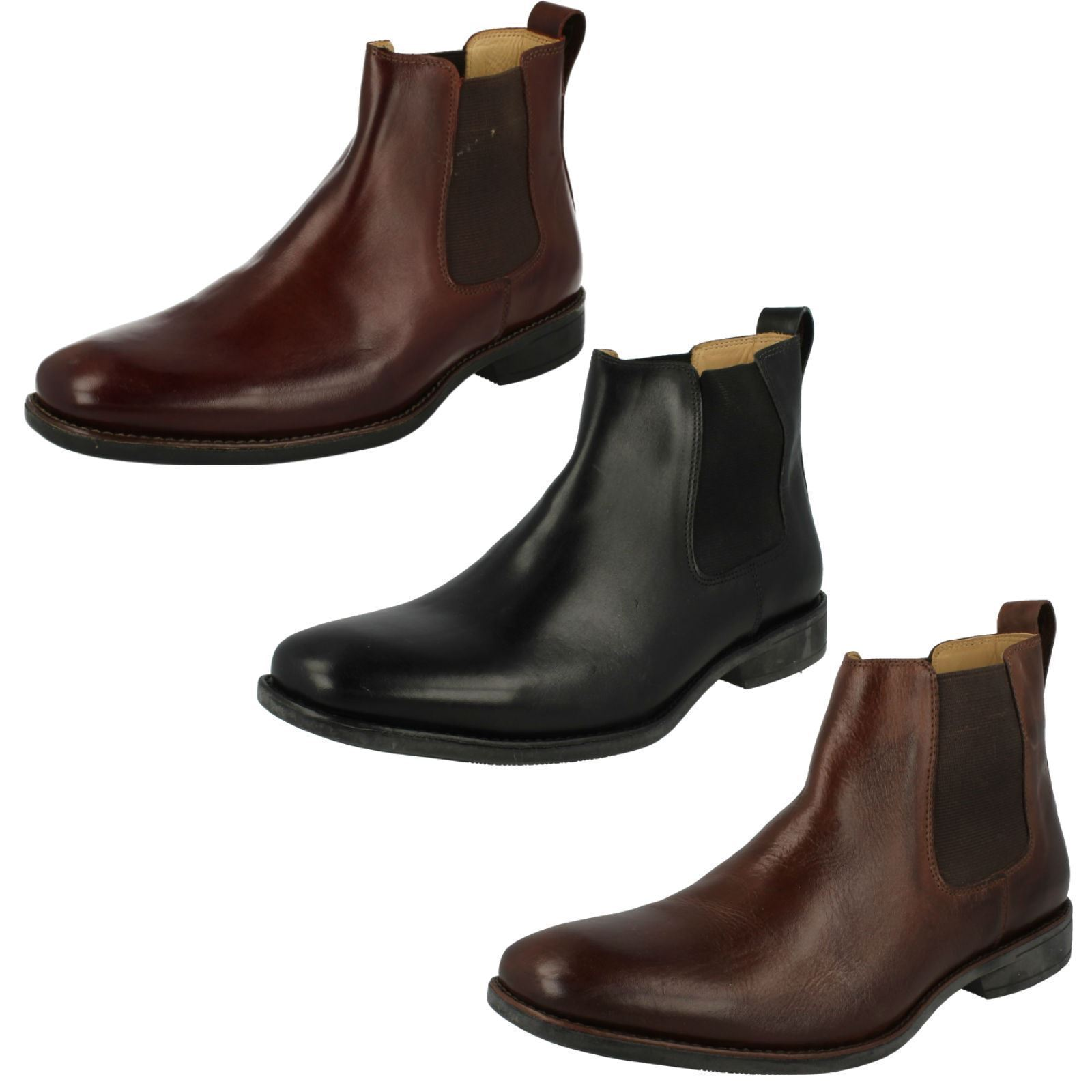Hombre Anatomic Burgundy/Negro Pull On Colombo Leather Chelsea Ankle botas Colombo On 929211 079b08