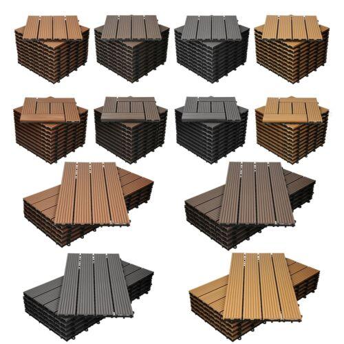 Dove acquistare Piastrelle per pavimenti WPC in legno terrazze da esterno giardino 1 m² a scelta