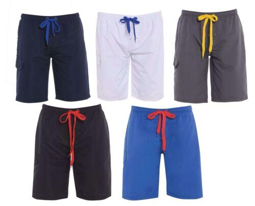 New Mens Aston Mesh Lined Plain Gym Beach Swim Summer Light Weight Shorts Jersey
