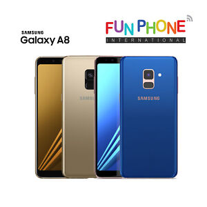 Samsung-Galaxy-A8-Blue-Gold-32GB-GSM-Unlocked-Smartphone-Excellent-Condition