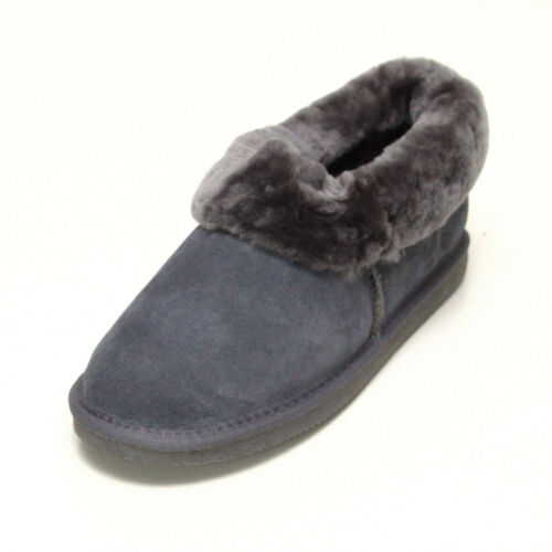 Deluxe Ladies Rounded Sheepskin Slipper Boots with Sheepskin Cuff FREE RETURNS
