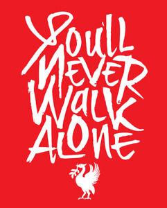 2cb4ebb37 You ll Never Walk Alone Liverpool Football Club shirt soccer Premier ...