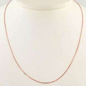 Brilliant Bijou 10K White Gold .7mm Box Chain Necklace 18 inches