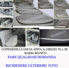 LANCIA APPIA 3° SERIE COPRISEDILI Tonalita' GRIGIO 7G e 5E con bordino BIANCO